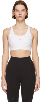adidas by Stella McCartney White and Pink TruePurpose Medium Support Sports Bra