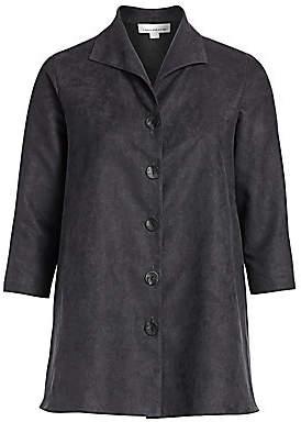 Caroline Rose Caroline Rose, Plus Size Women's Autumn Hues Faux Suede City Jacket
