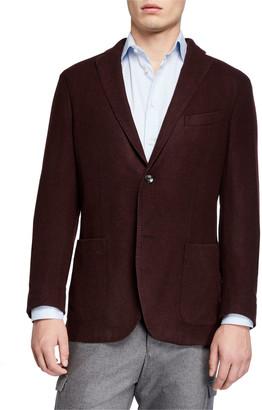 Boglioli Men's Plush Wool Two-Button Jacket