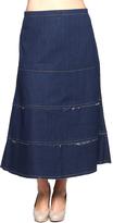 Be Girl Dark Indigo Denim A-Line Maxi Skirt - Plus