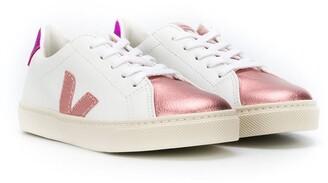 VEJA KIDS Colour Block Logo Sneakers