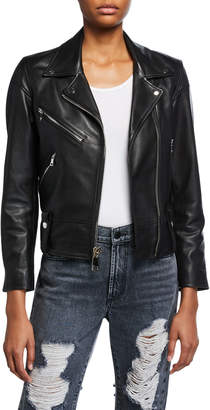 Dan Cassab Dani Lamb Leather Moto Jacket