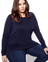 Addition Elle L&L Long Sleeve Sweatshirt with Lace Detail