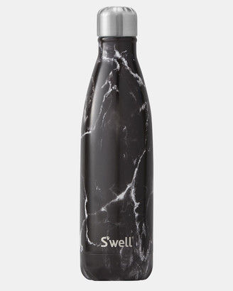 Swell Black Water Bottles - Insulated Bottle Elements Collection 500ml Black Marble - Size One Size at The Iconic