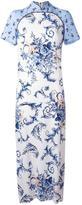 Antonio Marras mandarin collar long dress - women - Polyester/Spandex/Elastane/Cupro/Viscose - 46