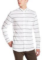 French Connection Men's Power Lines Jersey Stretch Long Sleeve Button Down Shirt