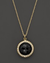 Ippolita Rock Candy Mini Black Onyx and Diamond Pendant Necklace in 18K Gold, 16""