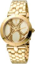 Just Cavalli 34mm Animal Devore Bracelet Watch, Champagne