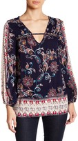 Angie Long Sleeve Printed Blouse