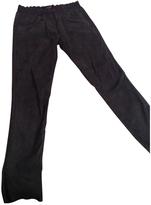 Isabel Marant Khaki Leather Trousers