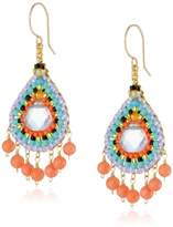 Miguel Ases Pink and Multicolor Dangle Earrings