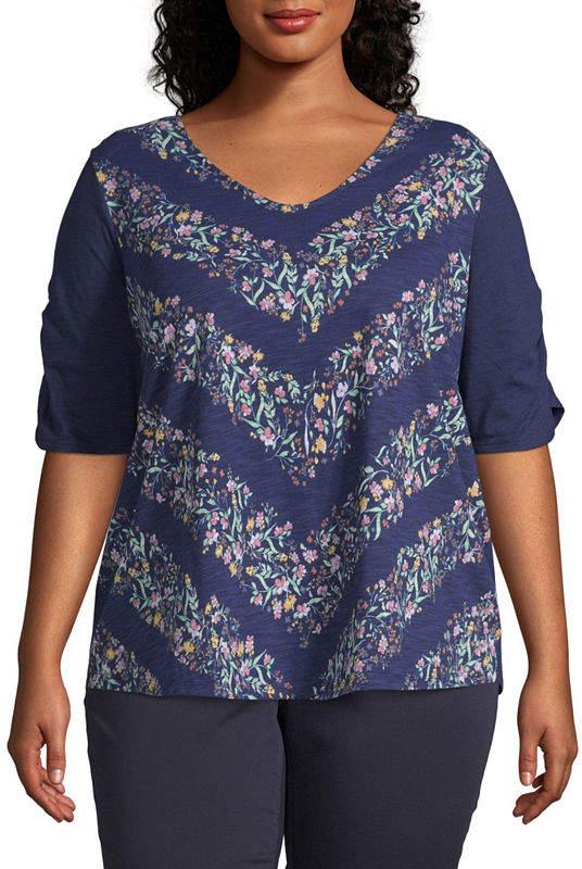96d383dd8 Liz Claiborne Plus Size Tops - ShopStyle