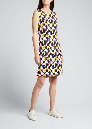 Akris Punto Abstract Dot Printed Sleeveless Shift Dress