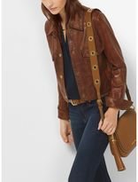 Michael Kors Shrunken Leather Jacket