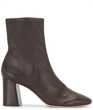 Loeffler Randall Round-Toe Leather Ankle Boots