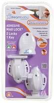 Dream Baby Dreambaby Adhesive Mag Locks - White - 2 Packs Of 2 Locks & 1 Key = 4 Locks & 2 Keys