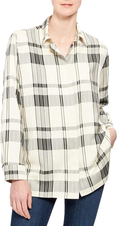 851801ec8666de Theory Button Down Shirt Women - ShopStyle