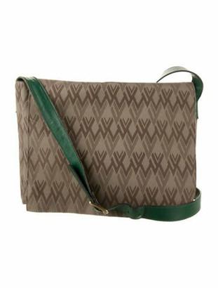 Valentino Canvas Messenger Bag Gold