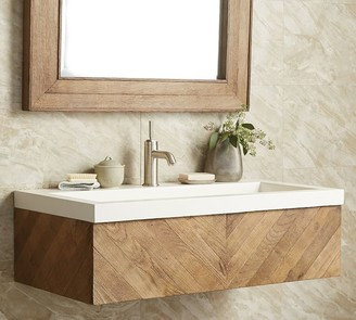 """Pottery Barn Ricson 36"""" Handcrafted Floating Single Sink Vanity"""