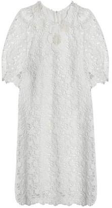 Chloé Floral-appliqued Cotton Guipure Lace Mini Dress