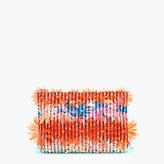 J.Crew Embellished floral clutch in vinyl