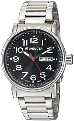 Wenger Men's Attitude Day/Date Swiss-Quartz Watch with Stainless-Steel Strap