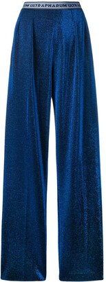 Marco De Vincenzo Metallized Pull-On Trousers