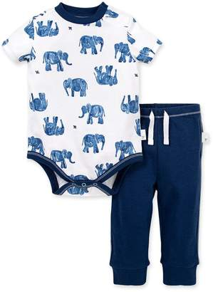 Burt's Bees Wandering Elephants Organic Baby Bodysuit & Pant Set
