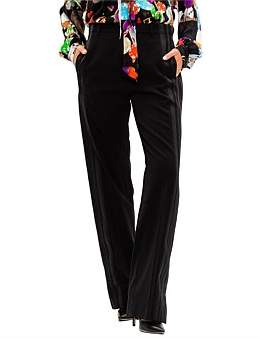 Balenciaga Wide Leg Jogger Pant With Satin Side Stripe
