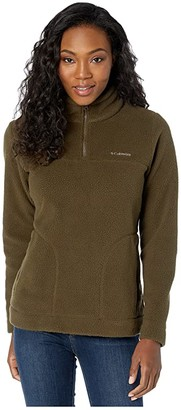 Columbia Canyon Pointtm Sherpa Pullover (Olive Green) Women's Long Sleeve Pullover