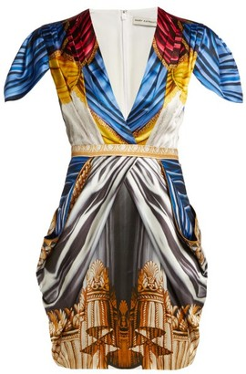 Mary Katrantzou Garde Drape-print Satin Mini Dress - Multi