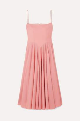 Emilia Wickstead + The Woolmark Company Nico Merino Wool Midi Dress - Pink