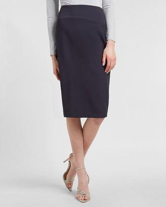 Express High Waisted Supersoft Twill Pencil Skirt