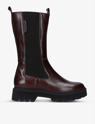 Kurt Geiger Stint leather knee-high platform boots