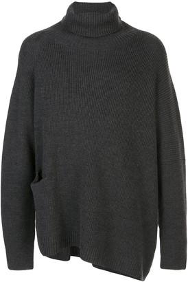 The Viridi-anne oversized asymmetric hem jumper