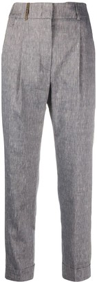 Peserico Textured Side Stud Tailored Trousers