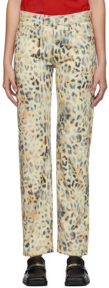 Martine Rose NAPA by Tan Leopard Jeans