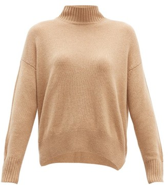 Allude High-neck Cashmere Sweater - Womens - Light Beige