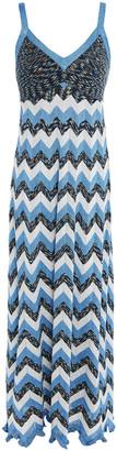 M Missoni Paneled Metallic Crochet-knit Maxi Dress