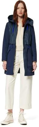 Andrew Marc Women's Shippan Crinkle-Rubber Mix Jacket