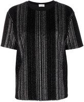 Saint Laurent metallic striped T-shirt - women - Cotton/Polyester - XS
