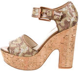 KORS Sequin Platform Sandals