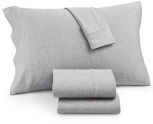 JLA Home Heathered Cotton Jersey 3-Pc. Solid Twin Xl Sheet Set Bedding