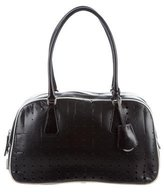 Prada Perforated Bowler Bag