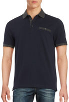 Black Brown 1826 Colorblocked Polo Shirt