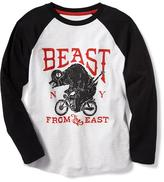 "Old Navy ""Beast From the East"" Raglan-Sleeve Tee for Boys"