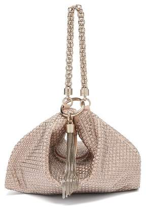 Jimmy Choo Callie Crystal-embellished Pink Suede Purse - Womens - Light Pink