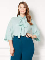 New York & Co. Eva Mendes Collection - Rosella Bell-Sleeve Blouse - Plus