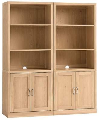 Pottery Barn Kids Preston Bookcase Wall Set: 2 Bookcase Hutches & 2 Cabinet Bases