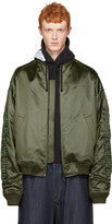 Juun.J Green Oversized Bomber Jacket